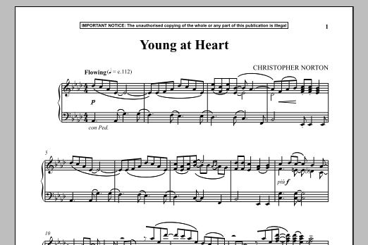 Christopher Norton Young At Heart sheet music notes and chords