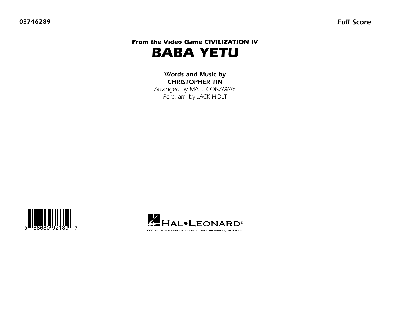 Christopher Tin Baba Yetu (from Civilization IV) (arr. Matt Conaway) - Conductor Score (Full Score) sheet music preview music notes and score for Marching Band including 11 page(s)