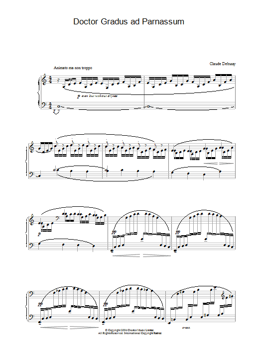 Claude Debussy Doctor Gradus ad Parnassum sheet music preview music notes and score for Piano including 5 page(s)