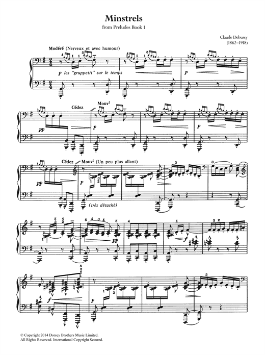 Download Claude Debussy 'Minstrels' Digital Sheet Music Notes & Chords and start playing in minutes