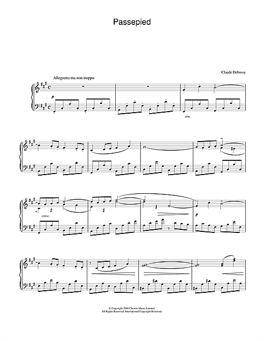 Download Claude Debussy 'Passepied' Digital Sheet Music Notes & Chords and start playing in minutes