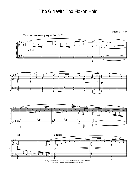 Download Claude Debussy 'The Girl With The Flaxen Hair' Digital Sheet Music Notes & Chords and start playing in minutes