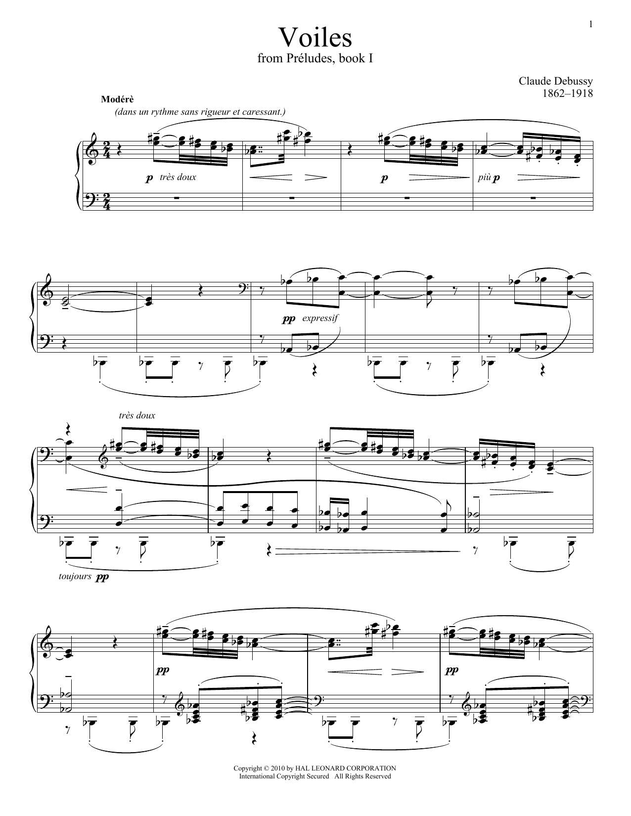 Download Claude Debussy 'Voiles' Digital Sheet Music Notes & Chords and start playing in minutes