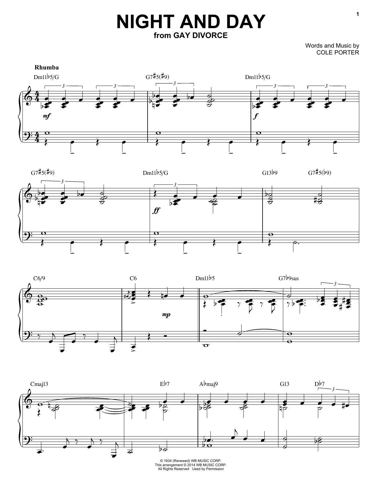 Download Cole Porter 'Night And Day' Digital Sheet Music Notes & Chords and start playing in minutes