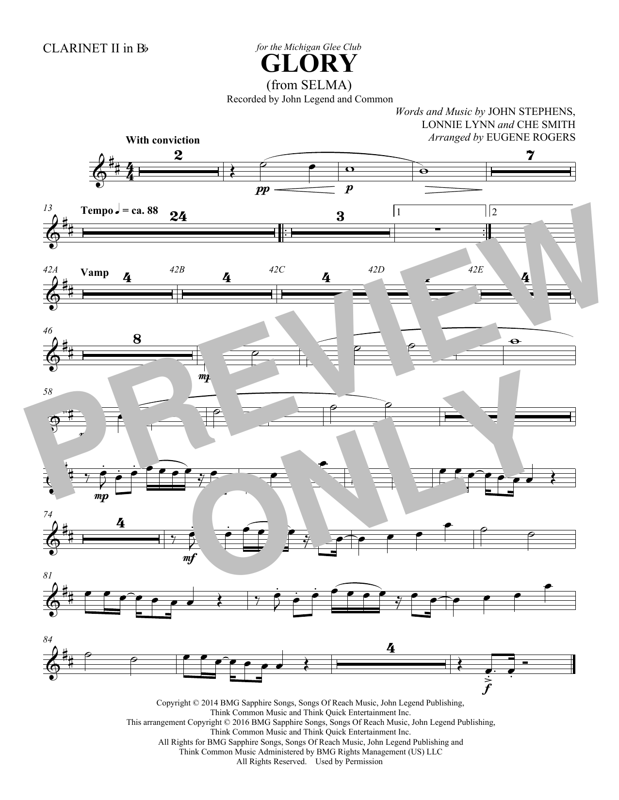 Common & John Legend Glory (from Selma) (arr. Eugene Rogers) - Bassoon 1 sheet music preview music notes and score for Choir Instrumental Pak including 1 page(s)