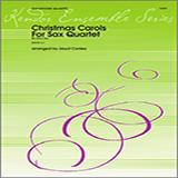 Download Conley Christmas Carols For Sax Quartet - Bb Tenor Sax Sheet Music arranged for Wind Ensemble - printable PDF music score including 14 page(s)