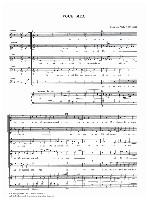 Download Costanzo Porta 'Voce Mea' Digital Sheet Music Notes & Chords and start playing in minutes