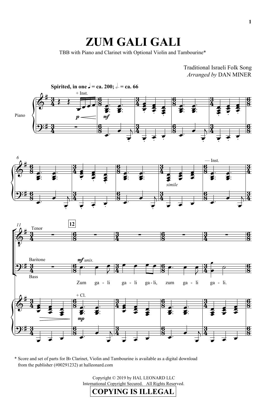 Download Dan Miner 'Zum Gali Gali' Digital Sheet Music Notes & Chords and start playing in minutes