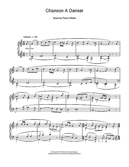 Download Daniel-Lesur 'Chanson A Danser' Digital Sheet Music Notes & Chords and start playing in minutes