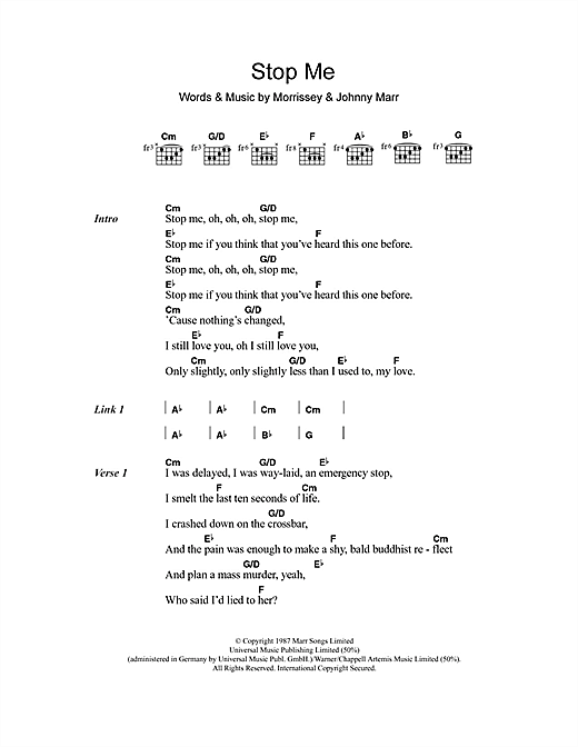 Daniel Merriweather Stop Me If You Think You've Heard This One Before sheet music notes and chords