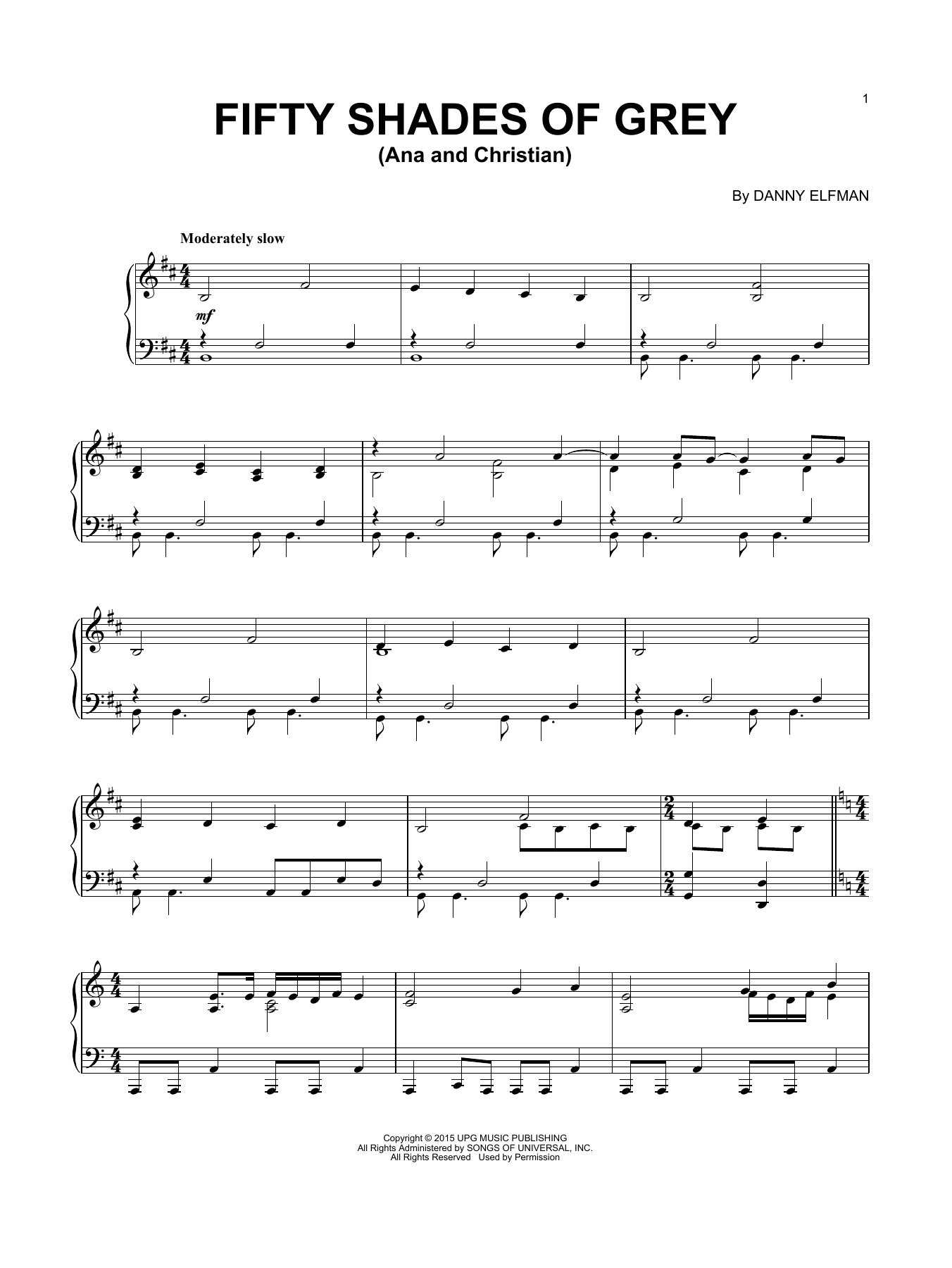 Download Danny Elfman 'Ana And Christian' Digital Sheet Music Notes & Chords and start playing in minutes