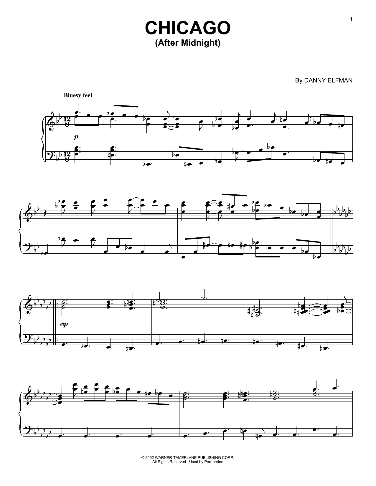 Download Danny Elfman 'Chicago (After Midnight)' Digital Sheet Music Notes & Chords and start playing in minutes