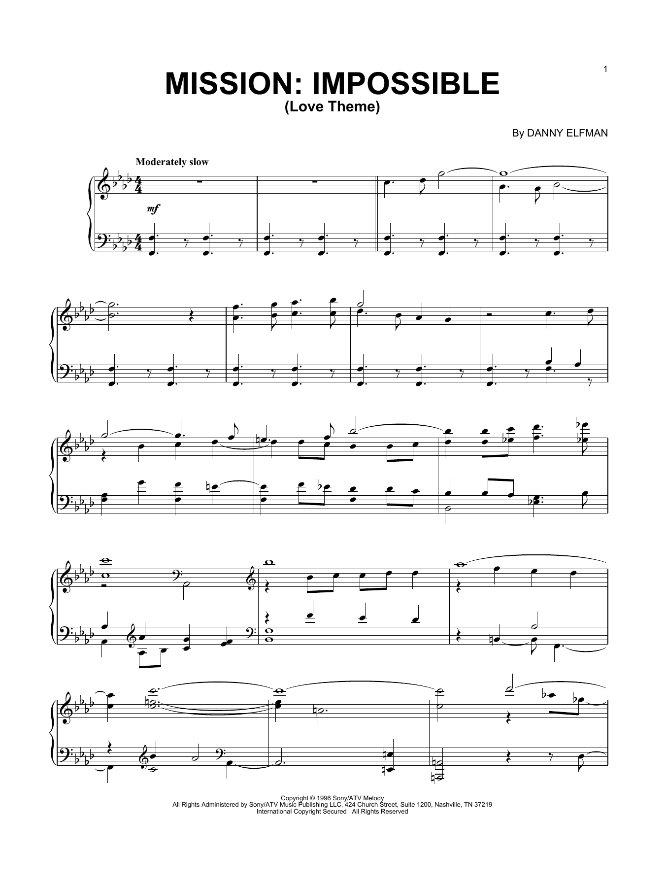 Download Danny Elfman 'Love Theme' Digital Sheet Music Notes & Chords and start playing in minutes