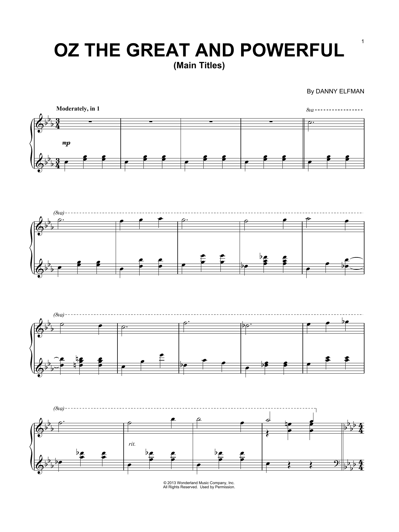 Download Danny Elfman 'Main Titles' Digital Sheet Music Notes & Chords and start playing in minutes