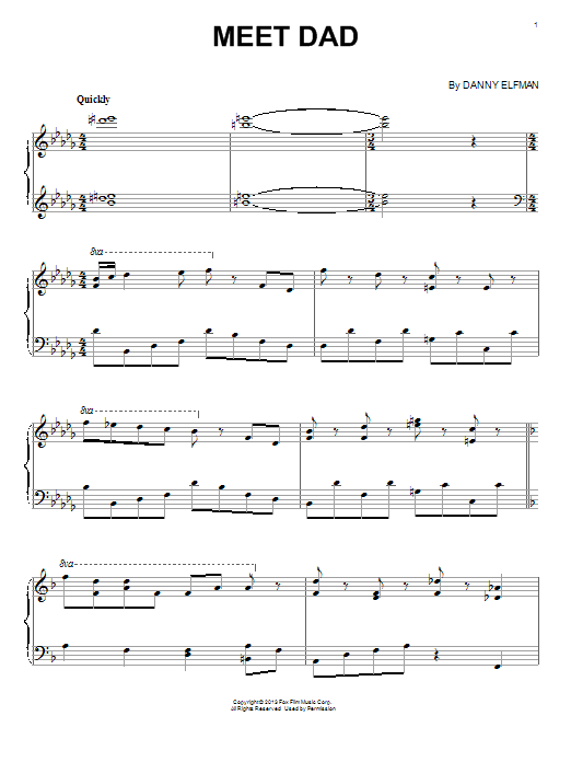 Download Danny Elfman 'Meet Dad' Digital Sheet Music Notes & Chords and start playing in minutes