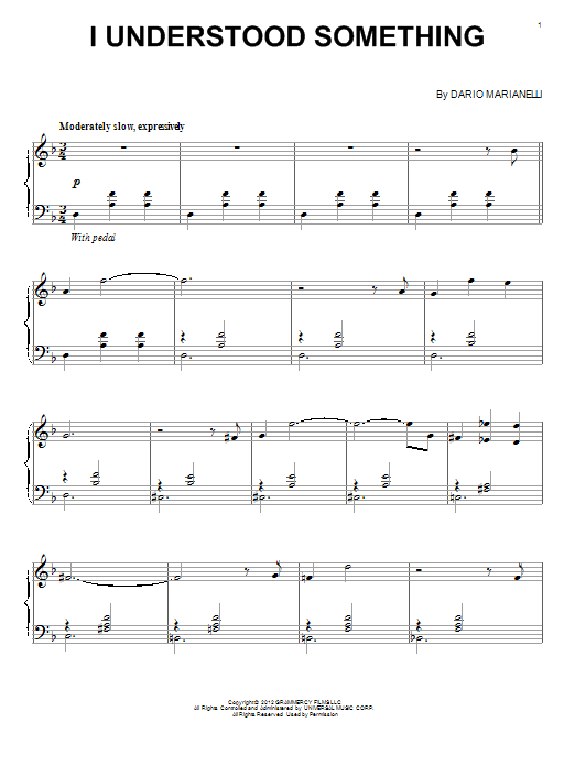 Download Dario Marianelli 'I Understood Something' Digital Sheet Music Notes & Chords and start playing in minutes