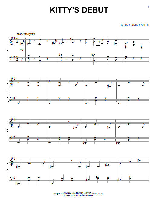 Download Dario Marianelli 'Kitty's Debut' Digital Sheet Music Notes & Chords and start playing in minutes