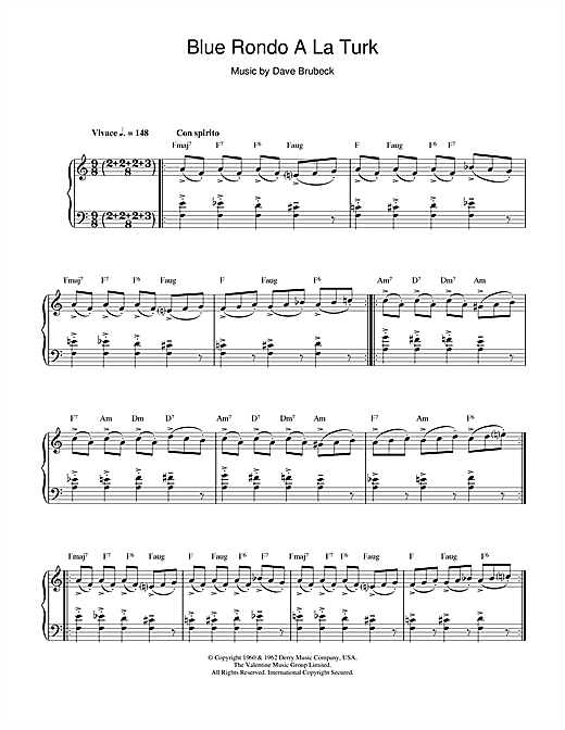 Download Dave Brubeck 'Blue Rondo A La Turk' Digital Sheet Music Notes & Chords and start playing in minutes