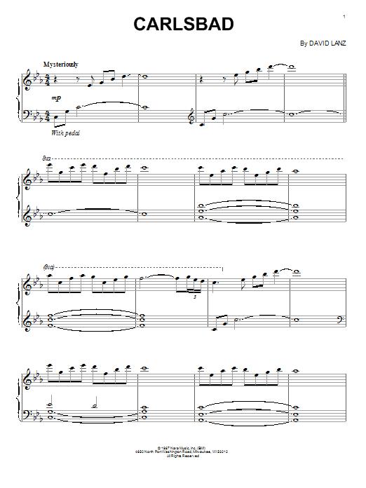 Download David Lanz 'Carlsbad' Digital Sheet Music Notes & Chords and start playing in minutes