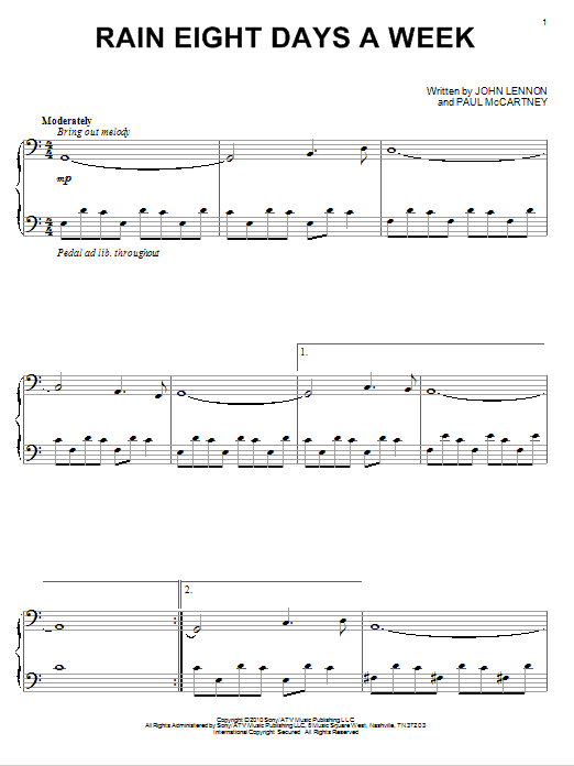 Download David Lanz 'Rain Eight Days A Week' Digital Sheet Music Notes & Chords and start playing in minutes
