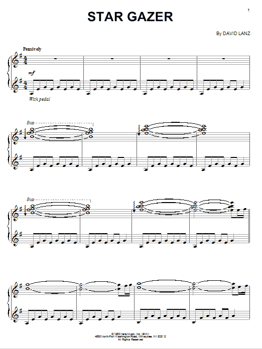 Download David Lanz 'Star Gazer' Digital Sheet Music Notes & Chords and start playing in minutes