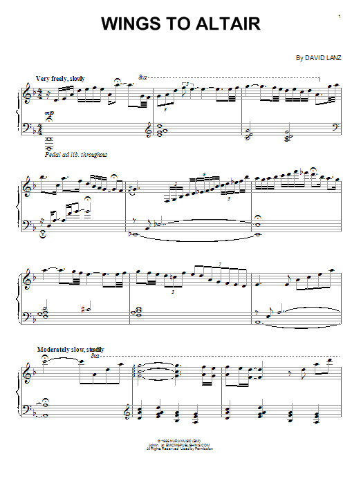 Download David Lanz 'Wings To Altair' Digital Sheet Music Notes & Chords and start playing in minutes
