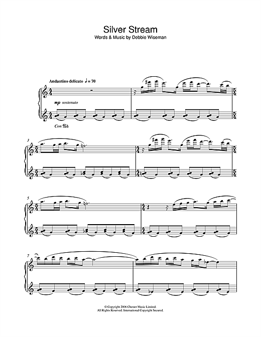 Download Debbie Wiseman 'Silver Stream' Digital Sheet Music Notes & Chords and start playing in minutes