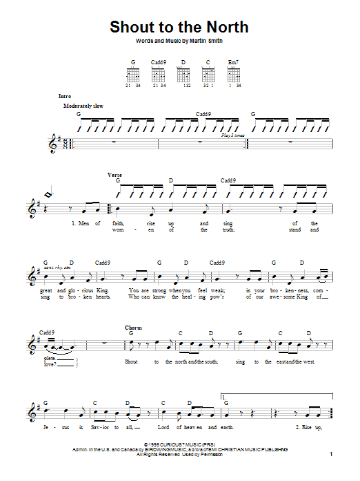 Download Delirious? 'Shout To The North' Digital Sheet Music Notes & Chords and start playing in minutes