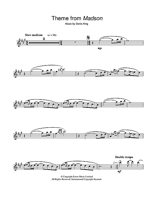 Denis King Theme from Madson sheet music notes and chords