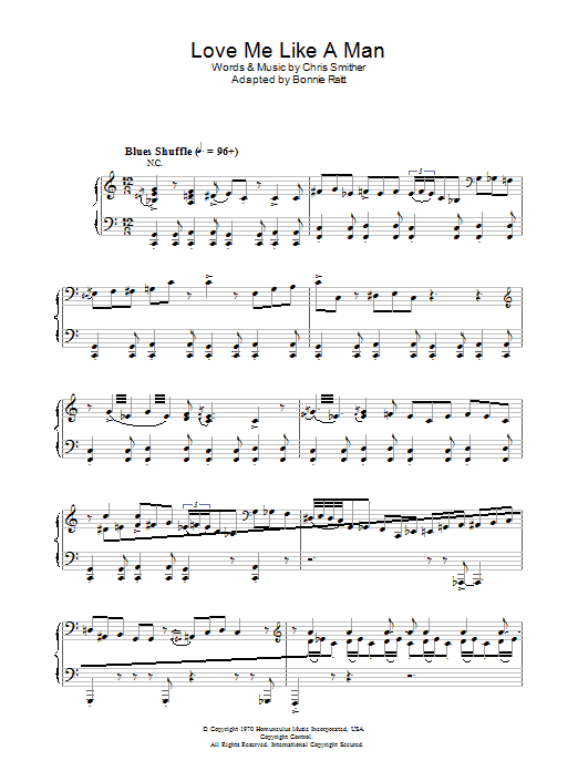 Diana Krall Love Me Like A Man sheet music preview music notes and score for Piano, Vocal & Guitar including 17 page(s)