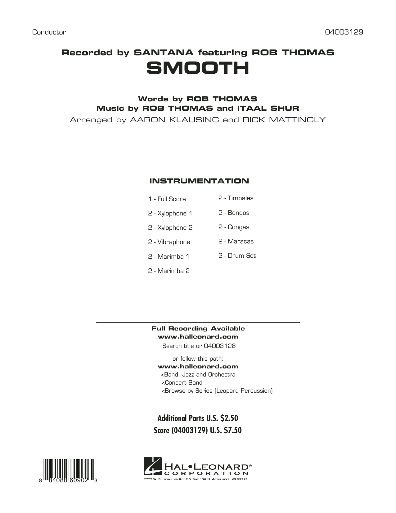 Diane Downs Smooth - Full Score sheet music preview music notes and score for Concert Band including 20 page(s)