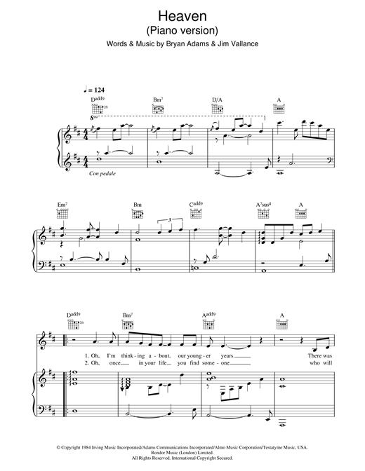 DJ Sammy Heaven (piano version) sheet music notes and chords