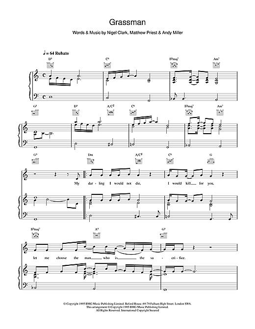 Dodgy Grassman sheet music notes and chords