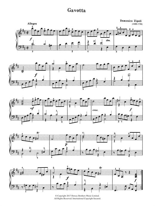 Domenico Zipoli Gavotta sheet music notes and chords