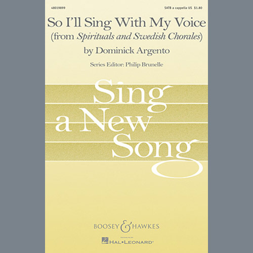 Dominick Argento So I'll Sing With My Voice pictures