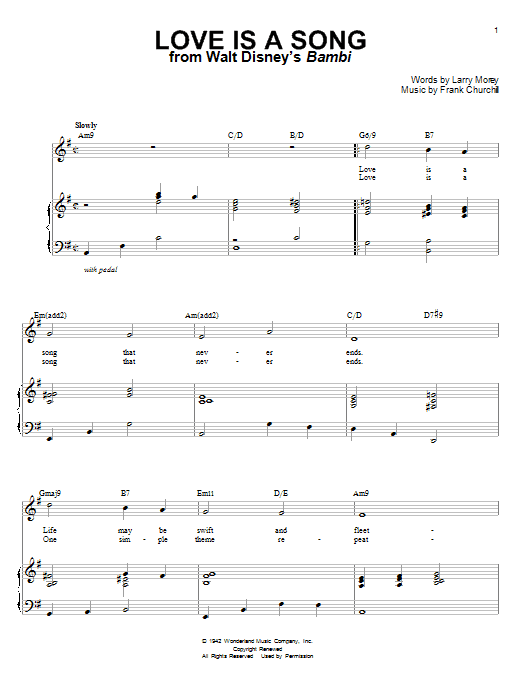 Donald Novis Love Is A Song sheet music notes and chords