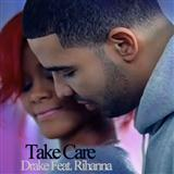 Download Drake Take Care (feat. Rihanna) Sheet Music arranged for Piano, Vocal & Guitar - printable PDF music score including 9 page(s)