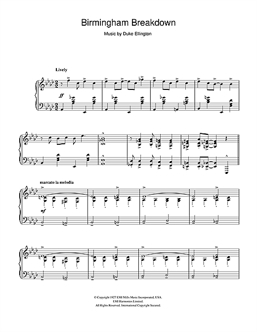 Download Duke Ellington 'Birmingham Breakdown' Digital Sheet Music Notes & Chords and start playing in minutes