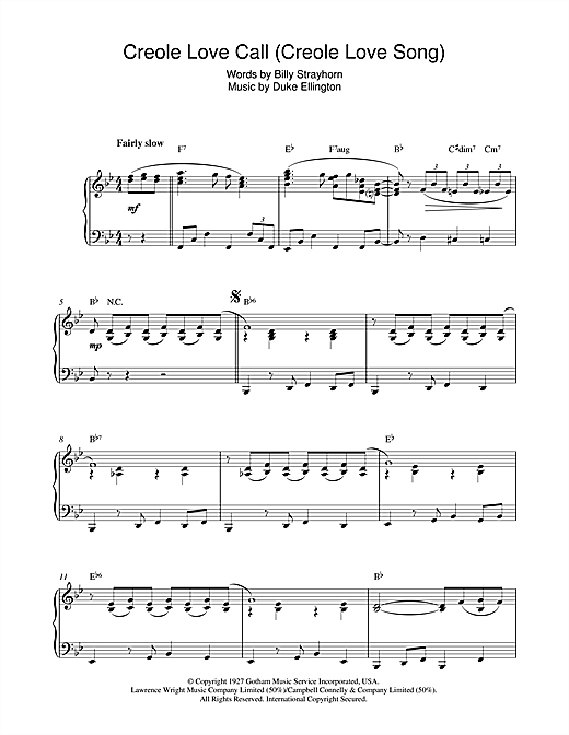 Download Duke Ellington 'Creole Love Call (Creole Love Song)' Digital Sheet Music Notes & Chords and start playing in minutes