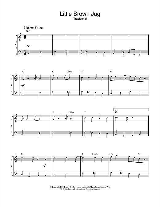 Duke Ellington Little Brown Jug sheet music notes and chords