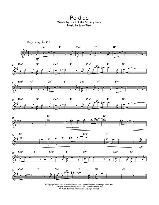 Duke Ellington Perdido sheet music notes and chords