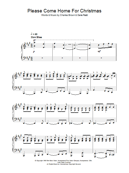 Eagles Please Come Home For Christmas sheet music preview music notes and score for Beginner Piano including 2 page(s)