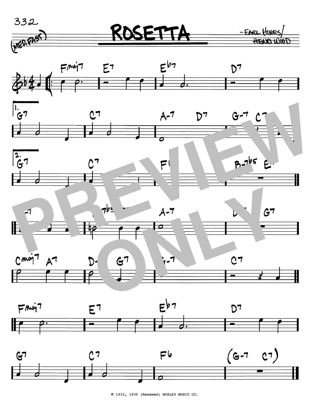 Download Earl Hines 'Rosetta' Digital Sheet Music Notes & Chords and start playing in minutes