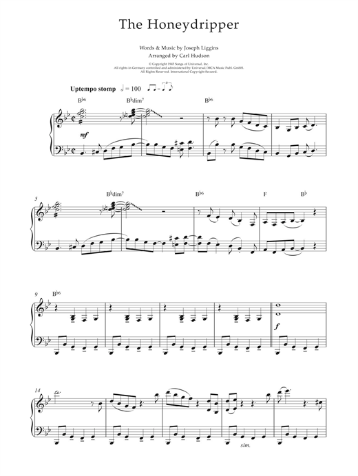 Download Earl Hines 'The Honeydripper' Digital Sheet Music Notes & Chords and start playing in minutes