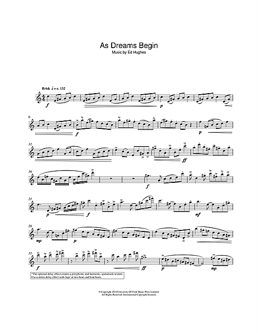 Download Ed Hughes 'As Dreams Begin' Digital Sheet Music Notes & Chords and start playing in minutes
