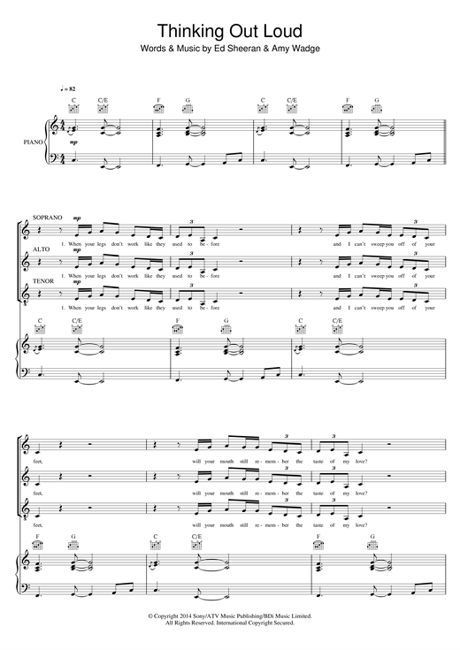 Download Ed Sheeran 'Thinking Out Loud (arr. Mark De-Lisser)' Digital Sheet Music Notes & Chords and start playing in minutes
