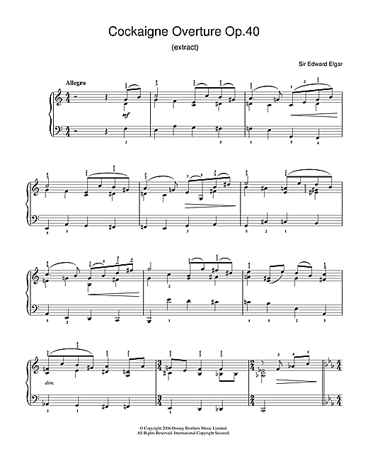 Download Edward Elgar 'Cockaigne Overture Op.40' Digital Sheet Music Notes & Chords and start playing in minutes
