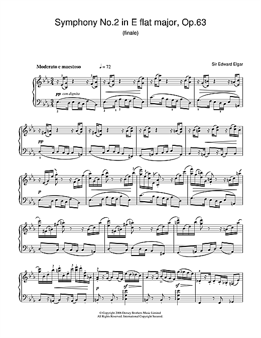 Download Edward Elgar 'Symphony No.2 In E Flat Major, Op.63 (finale)' Digital Sheet Music Notes & Chords and start playing in minutes