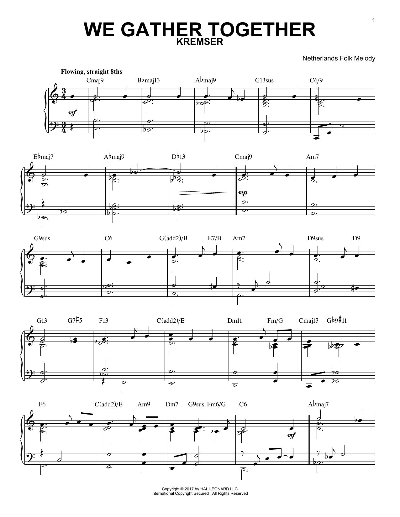 Download Edward Kremser 'We Gather Together' Digital Sheet Music Notes & Chords and start playing in minutes