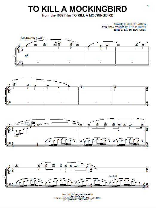 Download Elmer Bernstein 'To Kill A Mockingbird' Digital Sheet Music Notes & Chords and start playing in minutes